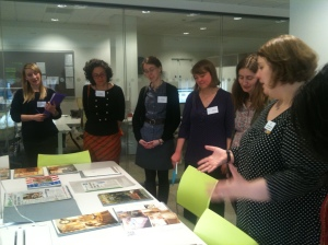 Delegates looking at M&S Archive collections